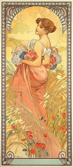 Alphonse Mucha | The Seasons, Summer - 1898. www.artexperiencenyc.com