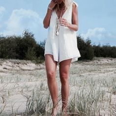 Bow Tie V Neck Loose Romper – moontica White Playsuit, Playsuit Romper, Bow, Ripped Shorts, Bell Bottom Pants, Pleated Maxi, Suit Fashion, High Collar, Playsuits
