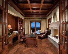 Bubble Office Design Prague office Traditional Office - traditional - home office - phoenix - R. Gurley Custom Homes