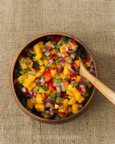 Mango Pepper Salsa | Kitchen Confidante | Salsa in Bowl