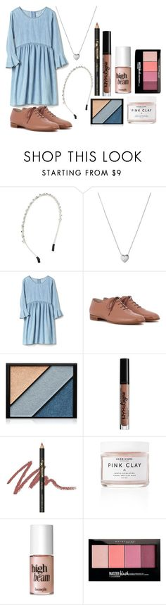 """""""Shade of Hope"""" by i-dont-want-to-go ❤ liked on Polyvore featuring Design Lab, Links of London, Gianvito Rossi, Elizabeth Arden, NYX, INIKA, Benefit and Maybelline"""