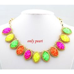 Hot Sale Statement Necklace Bib Necklace  Gold Tone by OnlyPearl, $8.89