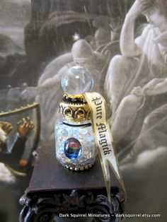 Pure Magick Ball  potion bottle dollhouse by DarkSquirrel on Etsy,