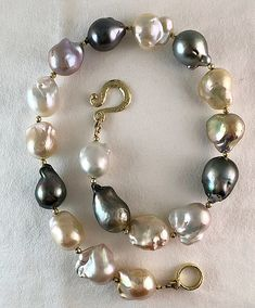 freshwater keshi pearls Peach pink ivory keshi pearl necklace with sunstones June birthstone jewelry
