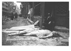 German women lie dead on a street in Berlin in 1945 after they were brutally raped and murdered by the Russian soldiers