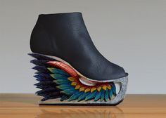"""Etsy seller LanVy Nguyen of New York City used to work in corporate finance. Now, she is """"a designer of things beautiful. Deb Shops, Retro Men, Summer Wedges, Platform Shoes, Platform Wedge, Shoe Art, Travel Design, Brighten Your Day, Hand Carved"""