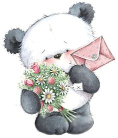 54 Ideas Party Illustration Kids Clip Art For 2019 Tatty Teddy, Panda Love, Cute Panda, Panda Bear, Illustration Inspiration, Cute Illustration, Cute Images, Cute Pictures, Animal Drawings
