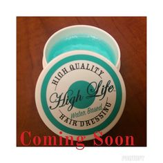 High Life Water Base Pomade slicks hair, provides shine without flakiness and unlike the other High Life Products it DOES WASH OUT!!