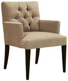 cobble hill clark velvet arm chair - custom $735