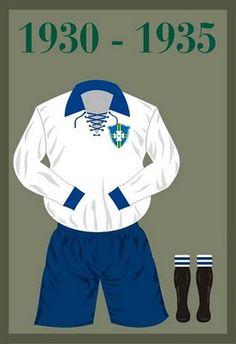 Uniforme da Seleção Brasileira de futebol de 1930-1935 #copadomundo #Brazil2014 #copade2014 #
