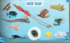 Deep Blue Journey Book Cheats - Animal Jam - Animal Jam World Deep Sea, Deep Blue, The Journey Book, Giant Isopod, Giant Squid, Angler Fish, Animal Jam, Yellow Submarine, W 6
