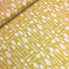 Ana Davis - clementine - spoonful of sugar yellow Fabric Material, Sugar, Yellow, Gold