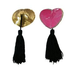 5Pairs Sexy Lingerie Heart Sequin Pasties Breast Bra Adhesive Nipple Cover With Tassel Sex Products For Erotic Lingerie Stickers