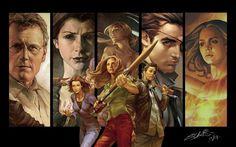 Buffy the Vampire slayer season 8 vs Angel: season 6 - Battles - Comic Vine Comic Book Artists, Comic Books Art, Comic Art, Buffy Im Bann Der Dämonen, Relic Hunter, Fangirl, Den Of Geek, Buffy Summers, Vs Angels