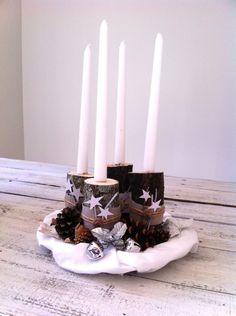 Kerzenständer aus natürlichen Materialien basteln