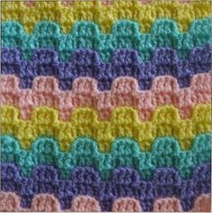 Bargello Crochet Stitch Pattern | AllFreeCrochetAfghanPatterns.com