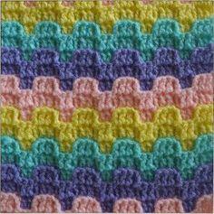Bargello Crochet Stitch Pattern | AllFreeCrochetAfghanPatterns.com