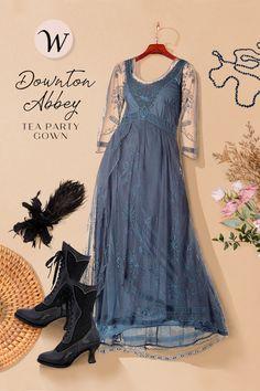 Informal Wedding Dresses, Vintage Inspired Wedding Dresses, Vintage Style Dresses, Vintage Outfits, Couture Fashion, Boho Fashion, Fashion Outfits, Edwardian Fashion, Vintage Fashion