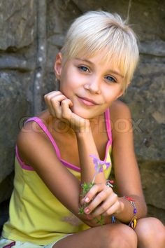 Image of 'little, girl, haircut'