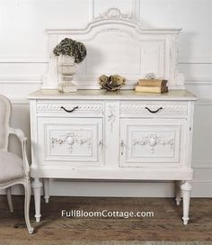 Antique rose swag french country server by FullBloomCottage