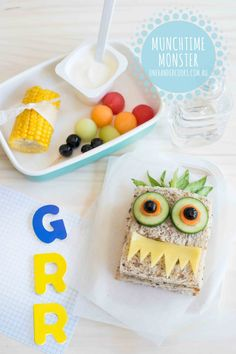 {NEW} MUNCHTIME MONSTER & FREE eBOOK: Munchtime Monster using Bega Farmers' Tasty Natural Cheese Slices - click through for your free back to school e-book: Complete 4-week lunch box meal planner. Enjoy x