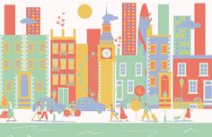 Bring the excitement of London Life to your interior with the London City Living Wallpaper Mural, displaying iconic buildings and architecture, this mural will be sure to make a big impact in your space. The playful colours and design make this mural perfect for a child's bedroom, whether you are looking for a range of... Read more