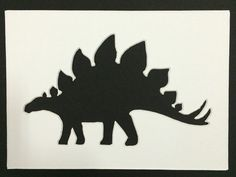 Stegasaurus Stencil Made from 4 Ply Mat by WoodburnsNewEngland