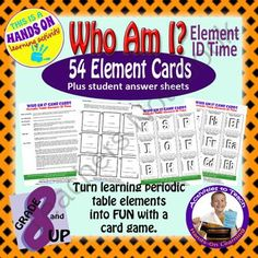 Super saver bundle who am i periodic table card games from atoms and their identity working with periodic table knowledge from activitiestoteach on teachersnotebook 13 pages goal of activity the aim is urtaz Gallery