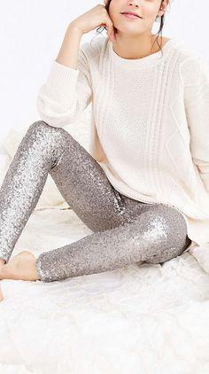 sequined leggings, frickin yes please!! @jamiepayne