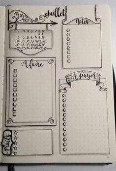 Tracker Bullet Journal Planner Page