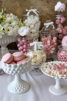 Party Inspirations: Engagement Party By Isabel's Confetti Party Inspirations: Verlobungsfeier vo Wedding Candy Table, Wedding Desserts, Party Wedding, Dessert Party, Dessert Tables, Deco Buffet, Candy Buffet, Art Festa, Bar A Bonbon