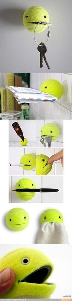 Interesting use for tennis balls