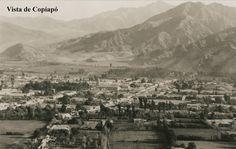 Vista de Copiapó a principios del Siglo XX. Al fondo los faldeos donde hoy está el sector Rosario.