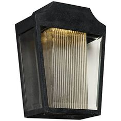 "Maxim Villa 14 1/4"" High Anthracite LED Outdoor Wall Light - #10A34 