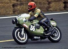 moto guzzi early seventies v7 sport race bike triple discs