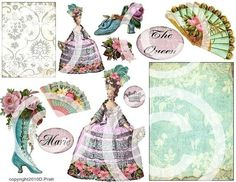 DIGITAL COLLAGE SHEET  printable download  by LandofEnchantment, $4.98