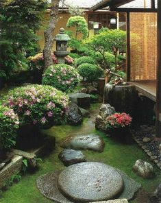 Backyard Japanese Garden Design Ideas Flower Garden Ideas Zen Zen  #JapaneseGardens