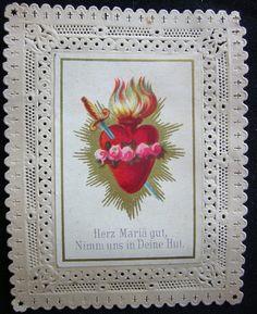 Antique Cœur Immaculé de Marie