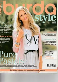 Burda Style Magazine October 2012 Issue in English by EmeraldSewingChest on Etsy