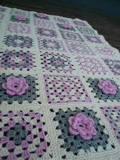 "Ravelry: Lady's Rose - 6"" square pattern by Melinda Miller"