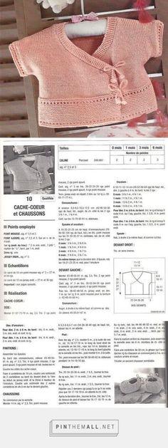 COPRIFASCE rosa e scarpine ferri 2,5 e 3 misure 0-1-3-6 mesi | La Maglia di Marica... - a grouped images picture | Cache-coeur et chaussons