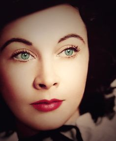 Vivien Leigh (1913 - 67) british actress who won 2 best actress academy awards - most famous for starring as Scarlett O Hara in 'Gone with the Wind'