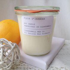 Soy Candle Fleur d'oranger orange blossom by ClerkenwellWaxCo