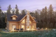Honka log homes provide a cozy and warm living environment with natural building materials, high indoor air quality and a stress-reducing atmosphere. Prefab Log Cabins, Log Cabin Homes, Log Home Kits, Log Cabin Kits, Log Cabin Living, Hunting Cabin, Natural Building, Cabin Interiors, Custom Homes