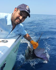 Ernesto's first sailfish in Quepos Manuel Antonio Costa Rica
