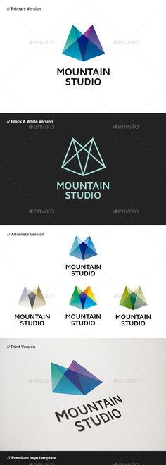 Mountain Studio Abstract Logo Template Vector EPS, Vector AI. Download here: http://graphicriver.net/item/mountain-studio-abstract-logo/560144?s_rank=65&ref=yinkira