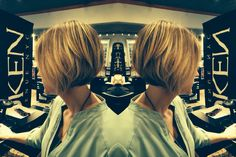 Haircut and balayage by Joseph Bryce for short hair trends