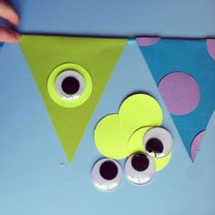 An Adorable DIY Monster Inc Banner - - The Monsters Inc photos shown in a previous post were taken from my phone months ago, simply to show some {party people} their awesome goodies that I was about to mail out for their daughter'…. Monster University Birthday, Monster 1st Birthdays, Monster Birthday Parties, 2nd Birthday Parties, First Birthdays, Boy Birthday, Birthday Ideas, Monster University Crafts, Monsters Inc Baby Shower