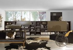 Dark Brown Living Room