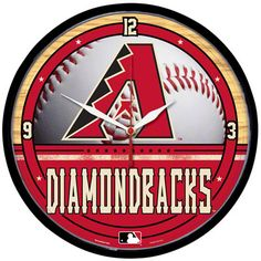 Arizona Diamondbacks Round Clock